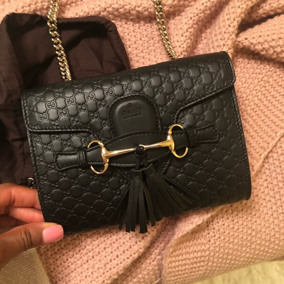 Gucci Handbags - **LIMITED EDITION: Black Leather Gucci Crossbody**